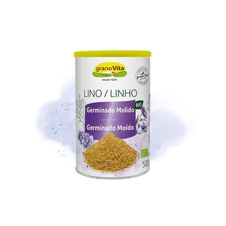 Lino germinado molido